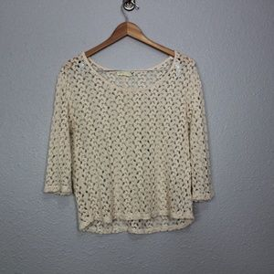 Staring at Stars Knit Lace Over Shirt sz Medium